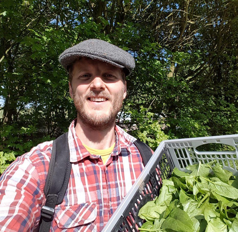 Matt at the farm