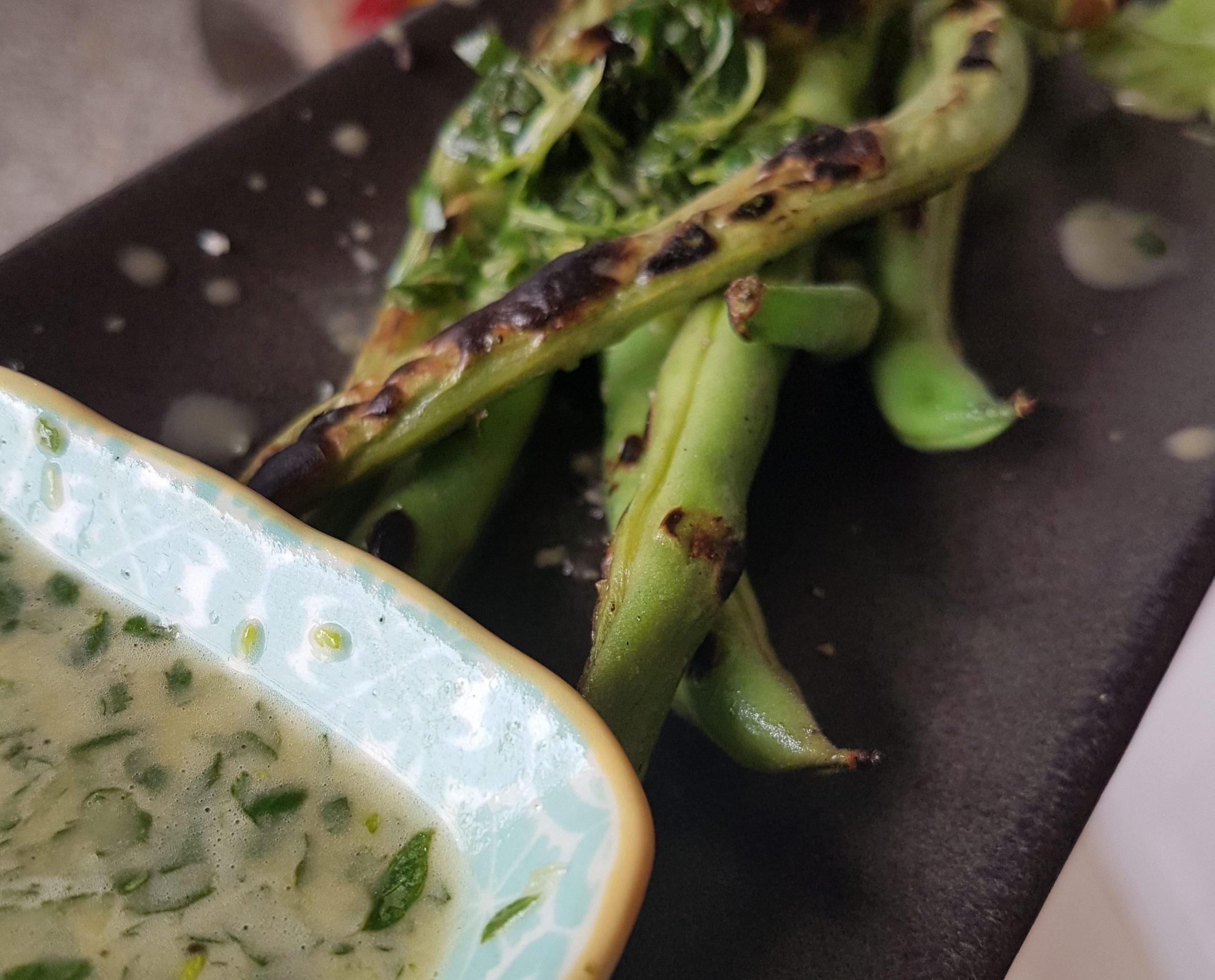 Charred Lemony Green Beans